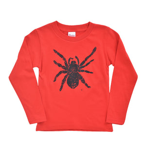 Tarantula Long Sleeve Kid's T shirt Red