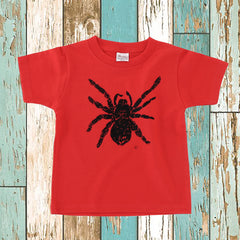 Tarantula Kid's T shirt Red