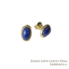 Zayah Lapis Lazuli Oval Earrings