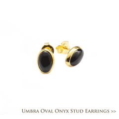 Umbra Onyx Oval Stud Earrings