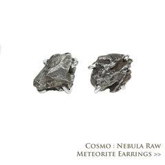 Cosmo Nebula Raw Meteorite Earrings