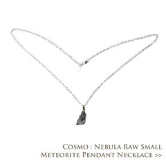 Cosmo Nebula Raw Small Meteorite Pendant Necklace