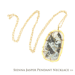 Sienna Jasper Pendant Necklace
