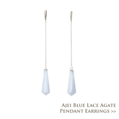 Ajei Blue Lace Agate Pendant Earrings