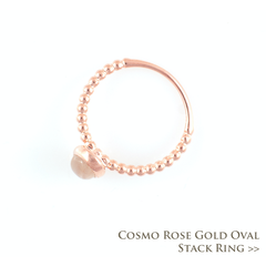 Cosmo Rose Gold Oval Stack Ring