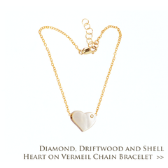 Driftwood Heart Bracelet with Diamond