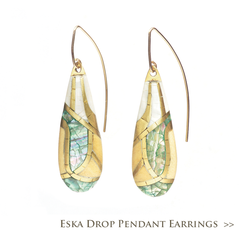 Eska Drop Pendant Earrings