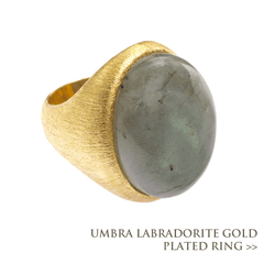 Umbra Labradorite Gold Plated Ring