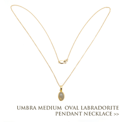 Umbra Medium Oval Labradorite Pendant Necklace