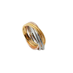 Cosmo Triple Platings Twisted Ring