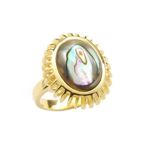 Umbra Small Oval Abalone Cage Ring
