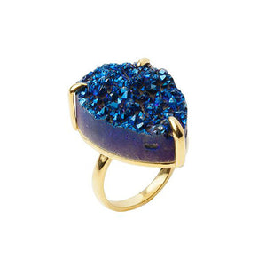 Zayah Drusy Agate Nocturna Ring