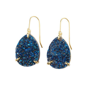 Zayah Drusy Agate Nocturna Earrings