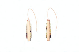 Ha tha Block Pendant Earrings