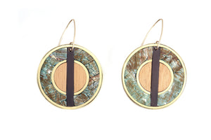 Vida Round Pendant Earrings