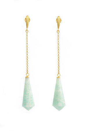 Vida Amazonite Drop Pendant Earrings