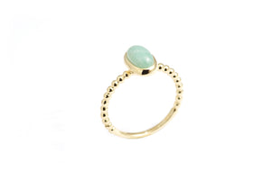 Vida Amazonite Oval Stack Ring