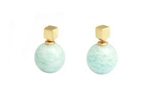 Vida Amazonite Duo Earrings