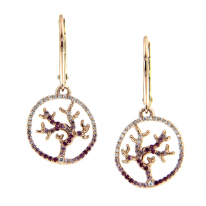 Gaia Fine Coralline Pendant Earrings