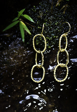 Nautical Chainlink Gold Earrings