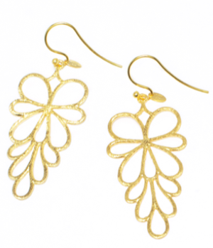 FS Oak Leaf Gold Plated Earrings