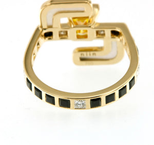 Solar Fine Saturn Cocktail Ring