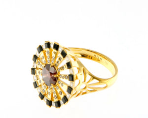 Solar Fine Sun Cocktail Ring