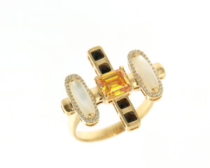 Solar Fine Neptune Cocktail Ring