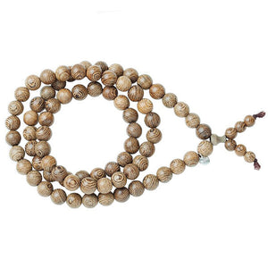 Triple Wrap Chunky Bead Bracelet - Wood