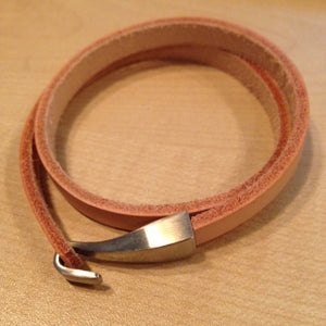 Natural Double Leather Hook Bracelet