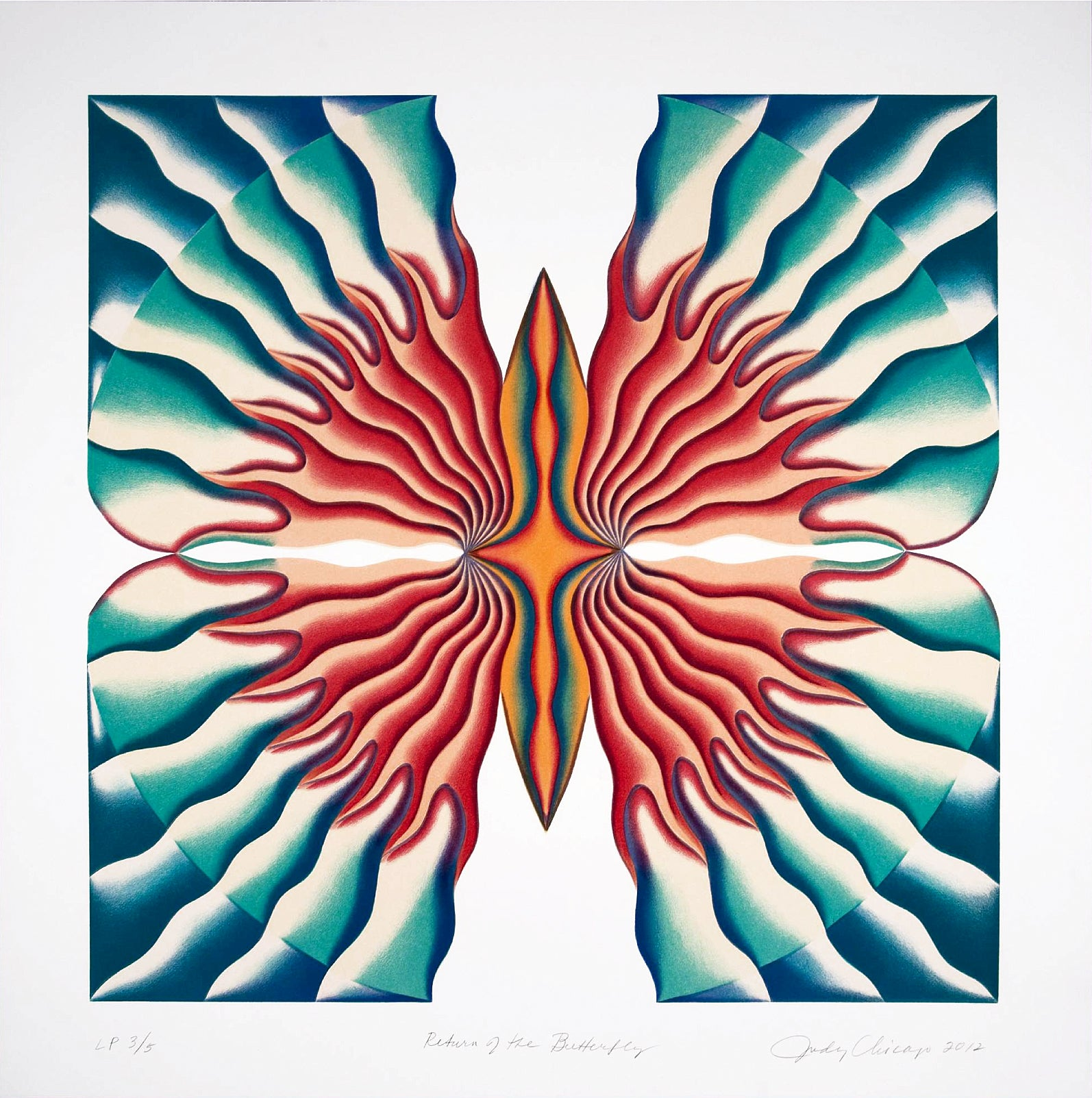 Judy Chicago, The Return of the Butterfly, lithograph