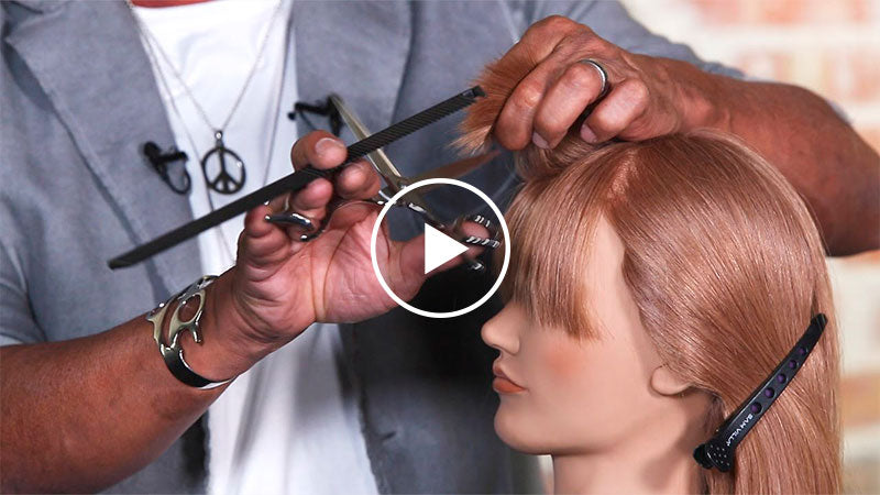 How To Cut Fringe with Reverse Graduation