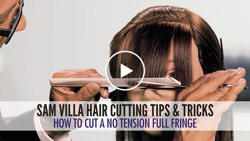 How To Cut A No-Tension Full Fringe Zoey Deschanel Bangs Tutorial
