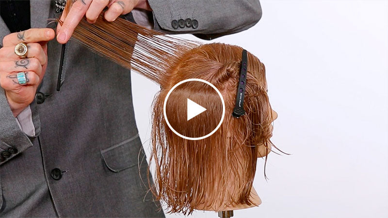 How to establish a safety guide when layering hair above the ears