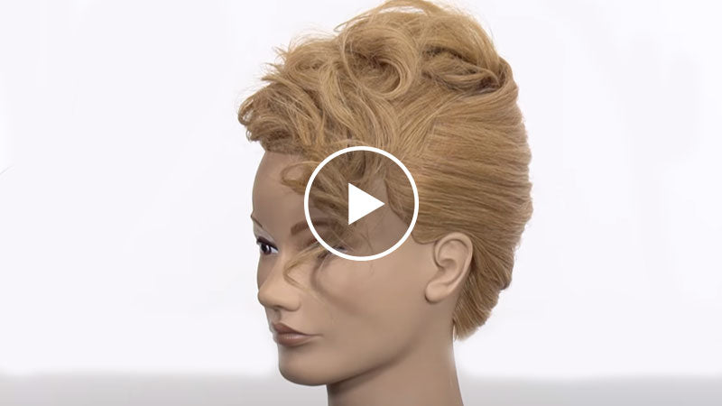 curly french twist