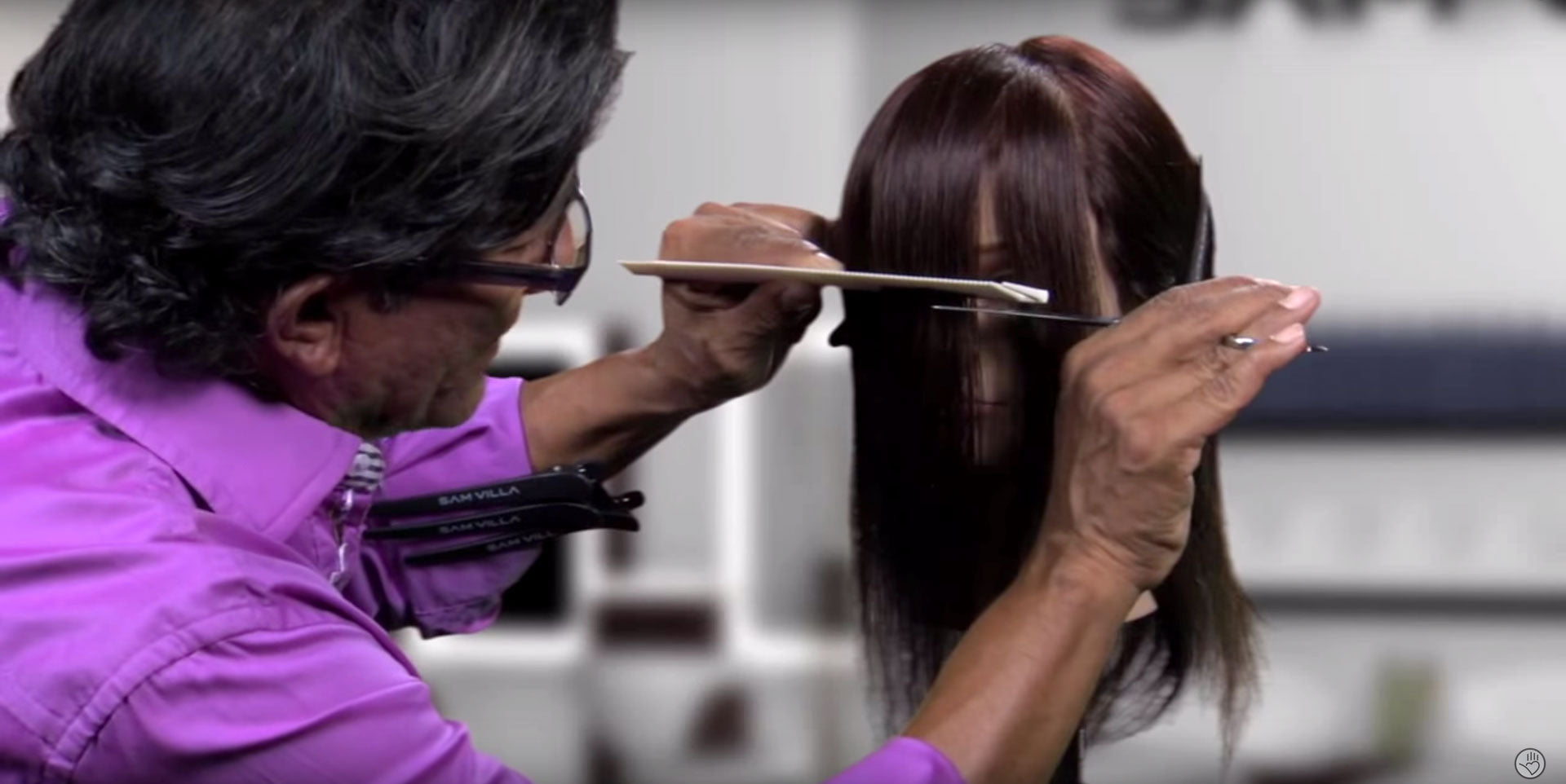 Use a longer blade when cutting a fringe for cleaner lines