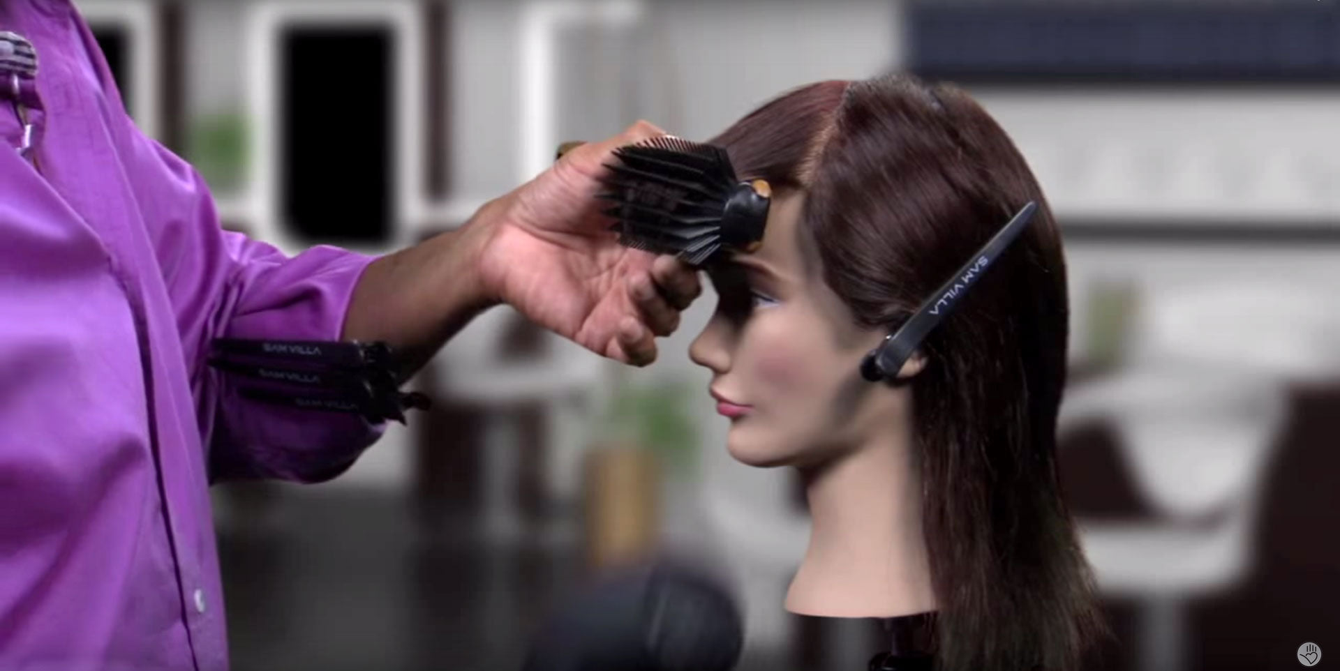 Allow the fringe to cool to create a shiny and sleek bevel