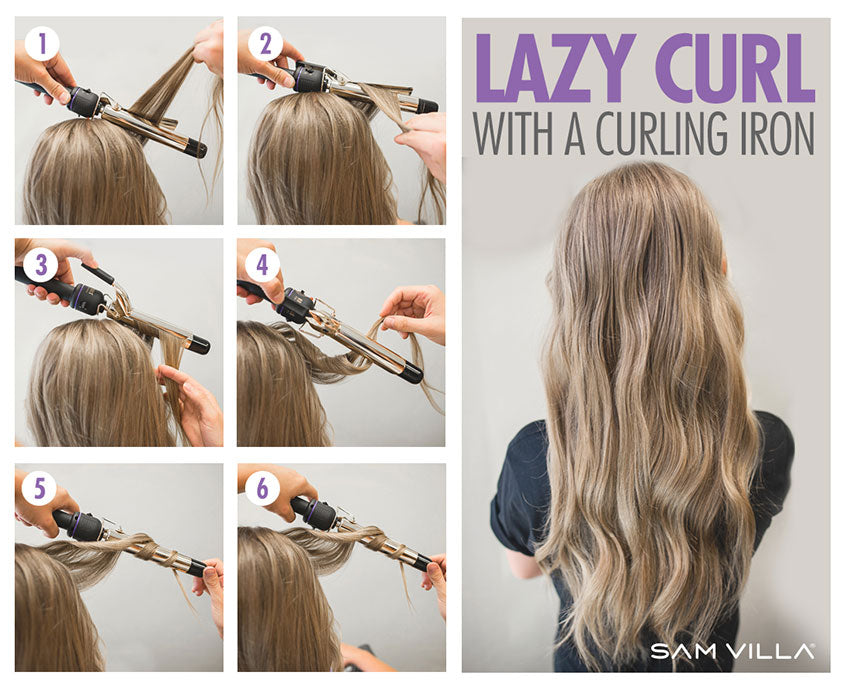 Lazy Curl with a curling iron