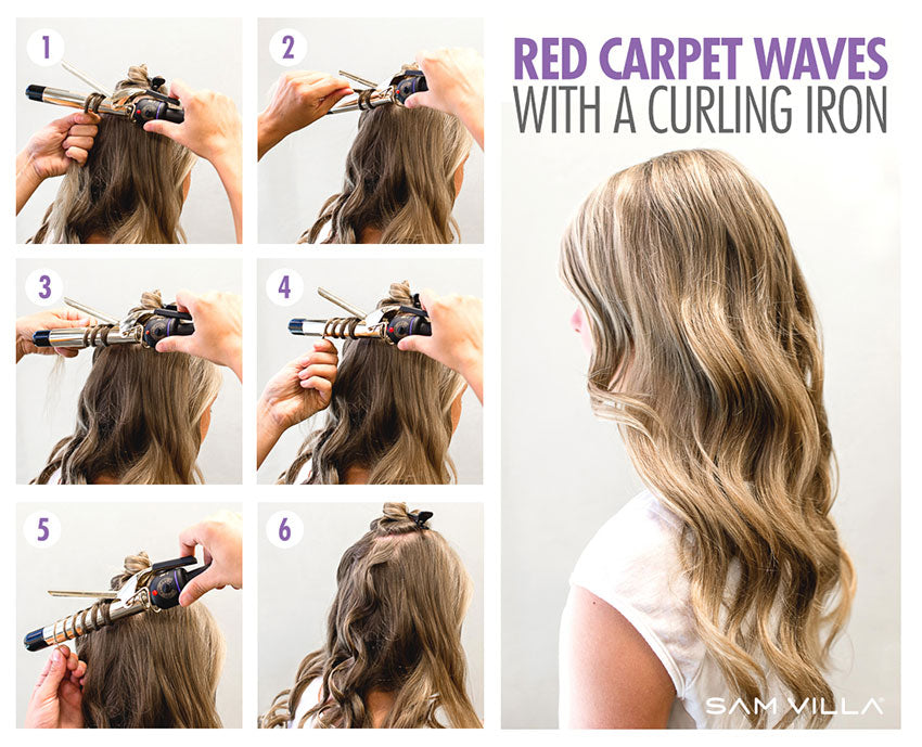 red Carpet Waves with a curling iron