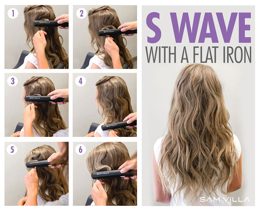 S wave with a flat iron