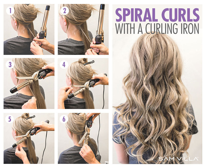 Spiral Curls with a curling iron