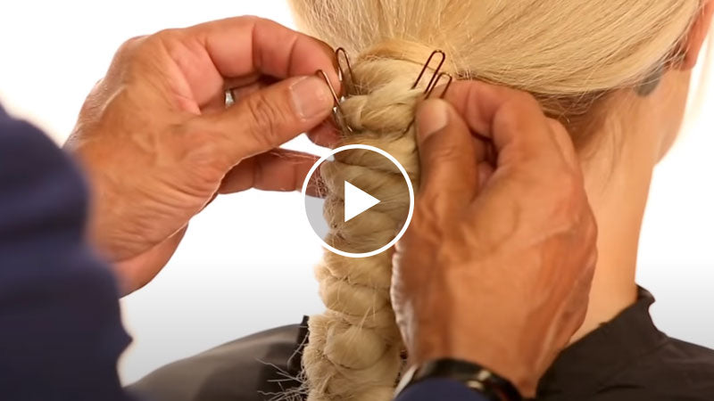 Knotted Fishtail Braid Ponytail