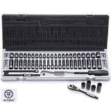 Dual Action 1/4 Drive Metric & SAE Socket Set 53 Pce:    10045302
