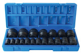 1/2'' Dr. SAE Action Impact Std Socket Set - 600201901