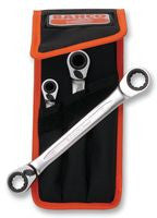 Bahco 3 Piece Ratchet Spanner Set   4SRM/3T