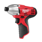 Milwaukee M12 Cordless 1/4'' Hex Impact Driver: MLW2450-20