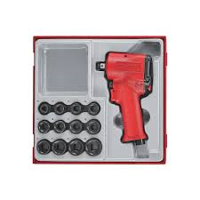 Brand New Stubby 1/2'' Drive Impact Wrench/Socket Set- Teng Tools