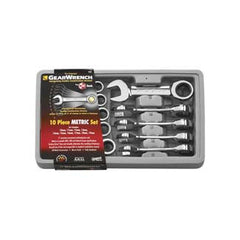 Stubby Ratchet Wrench 10 Piece Metric Set - KDT9520