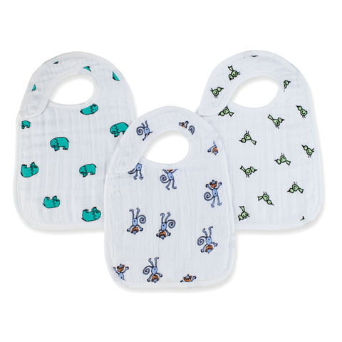 Aden & Anais Snap Bibs (3pk) - Jungle Jam - Display