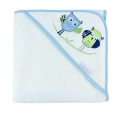 Bubba Blue Hooded Towel - Baby Owl Blue